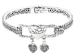 "Pre-Owned Sterling Silver ""Treasure Box"" Bangle Bracelet"
