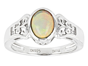 Pre-Owned Ethiopian Opal Sterling Silver Ring .85ct