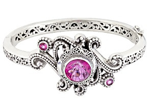 Pre-Owned Pure Pink™ Mystic Topaz® Silver Bracelet 7.90ctw