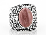Pre-Owned Pink Mookaite Sterling Silver Ring