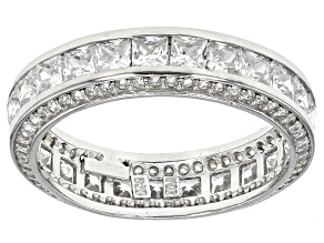 Pre-Owned Cubic Zirconia Rhodium Over Sterling Silver Band 5.00ctw