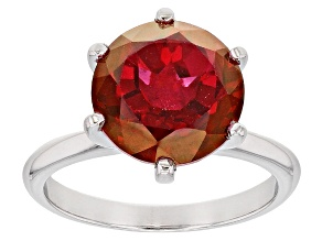 Pre-Owned Red Peony(TM) Mystic Topaz(R) Sterling Silver Ring 4.85ct