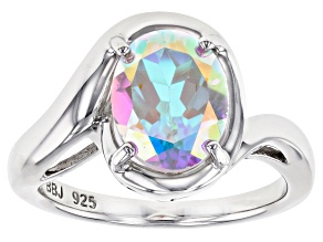 Pre-Owned Multi-Color Mercury Mist® Topaz Rhodium Over Sterling Silver Ring 2.82ct