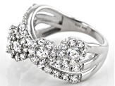 Pre-Owned White Cubic Zirconia Rhodium Over Sterling Silver Ring 4.31ctw