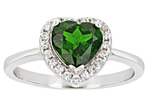 Pre-Owned Chrome Diopside Rhodium Over Sterling Silver Ring 1.54ctw