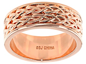 Pre-Owned Copper Braid Design Men's Eternity Band Ring