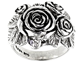 Pre-Owned Sterling Silver Rose Ring