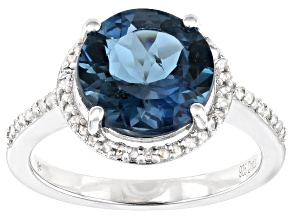 Pre-Owned London Blue Topaz Rhodium Over Sterling Silver Ring 3.65ctw