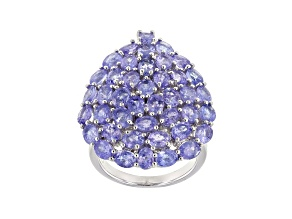 Pre-Owned Tanzanite Rhodium Over Sterling Silver Ring 8.07ctw