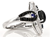 Pre-Owned Blue Star Sapphire Sterling Silver Ring 2.72ctw