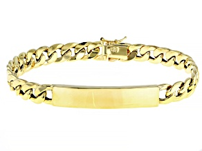 Pre-Owned 10K Yellow Gold Curb Plate Bracelet