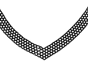 Pre-Owned Black Spinel Rhodium Over Silver Bead Necklace 120.00ctw