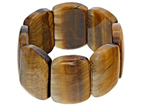 Pre-Owned Brown Golden Tigers Eye Stretch Bracelet