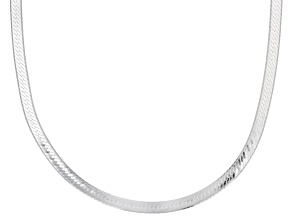Pre-Owned Sterling Silver 4MM Herringbone Necklace 18 Inch