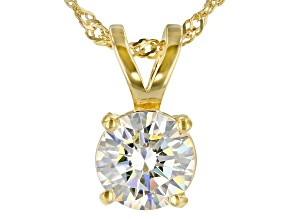 Pre-Owned Fabulite Strontium Titanate 18k Gold Over Silver Pendant With Chain 3.00ct