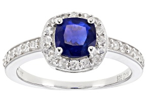 Pre-Owned Blue Spinel Sterling Silver Ring 1.67ctw
