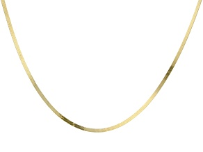 Pre-Owned 10K Yellow Gold 1.9MM Herringbone Chain Necklace