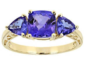 Pre-Owned Blue Tanzanite 10k Yellow Gold Ring 2.22ctw