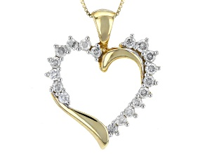 Pre-Owned White Diamond 10k Yellow Gold Pendant .50ctw