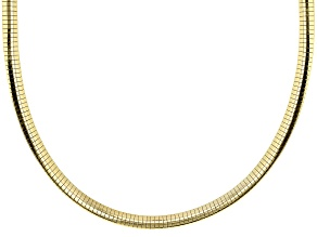 Pre-Owned 18K Yellow Gold Over Sterling Silver Polished Omega Necklace 18 Inch