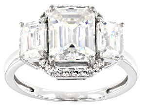 Pre-Owned Fabulite Strontium Titanate and white zircon rhodium over sterling silver ring 4.92ctw.
