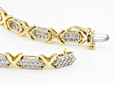 Pre-Owned White Diamond 10k Yellow Gold Bracelet 3.00ctw
