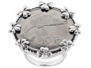 Pre-Owned 10 Pence Coin Sterling Silver Ring