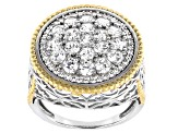 Pre-Owned White Cubic Zirconia Rhodium Over Sterling Silver Ring 3.25ctw (1.72ctw DEW)