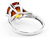 Pre-Owned Orange Madeira Citrine Rhodium Over Silver Ring 3.23ctw
