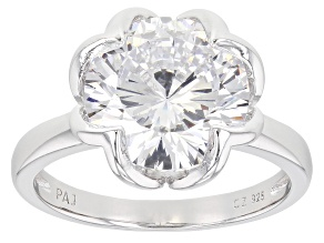 Pre-Owned White Cubic Zirconia Dillenium Rhodium Over Sterling Silver Solitare Ring 8.83ctw