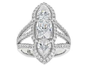 Pre-Owned White Cubic Zirconia Platineve Ring 5.94ctw