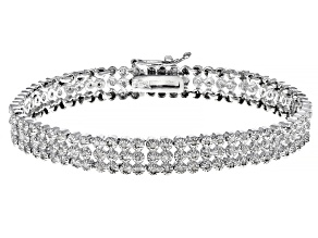 Pre-Owned Diamond Rhodium over Brass Bracelet 2.00ctw
