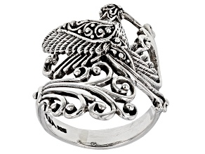 Pre-Owned Sterling Silver Hummingbird Ring