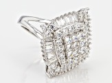 Pre-Owned Cubic Zirconia Silver Ring 4.32ctw