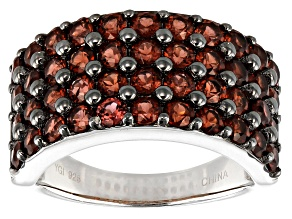 Pre-Owned Red Garnet Rhodium Over Sterling Silver Ring 2.62ctw