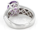 Pre-Owned Purple amethyst rhodium over sterling silver ring 2.26ctw
