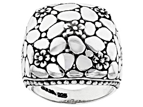 Pre-Owned Sterling Silver Floral Ring