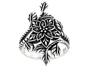 Pre-Owned Sterling Silver Floral Statement Ring