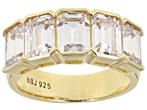 Pre-Owned White Cubic Zirconia 18K Yellow Gold Over Sterling Silver Ring 8.50ctw