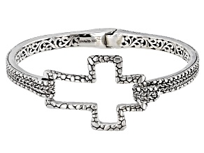 Pre-Owned Sterling Silver Cross Bracelet