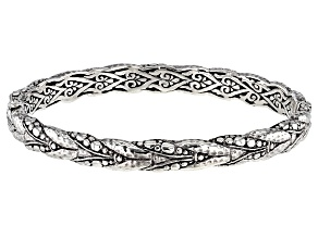 "Pre-Owned Sterling Silver ""God Leading Us"" Bangle Bracelet"