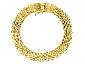 Pre-Owned 10KY Yellow Gold Bismark Bracelet 7.5 Inches