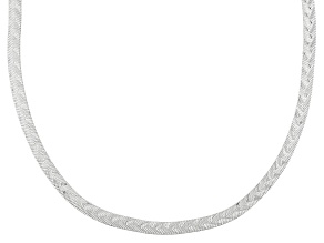 Pre-Owned Sterling Silver Herringbone Link Chain Necklace 24 inch 4.3mm