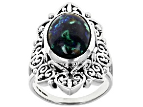 Pre-Owned  Azurmalchite Sterling Silver Ring