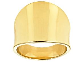Pre-Owned 18k Yellow Gold Over Sterling Silver Polished Band Ring 18MM