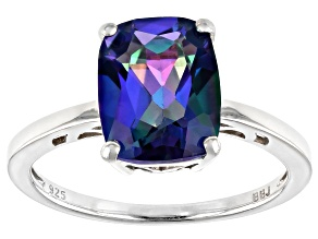 Pre-Owned Blue Petalite Rhodium Over Silver Ring 2.29ct