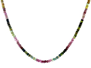 Pre-Owned  Multi Tourmaline Sterling Silver Necklace