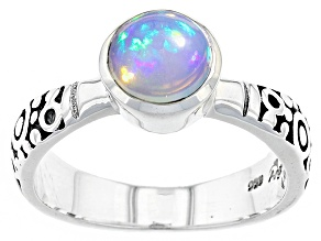 Pre-Owned Ethiopian Opal Sterling Silver Ring