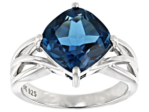 Pre-Owned London Blue Topaz Rhodium Over Silver Ring 4.62ct