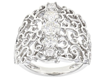 Picture of Pre-Owned Moissanite Platineve Ring 1.18ctw DEW